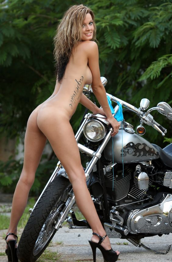 Hot naked chicks doing sex on motorcycle pics