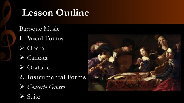 New forms of baroque music
